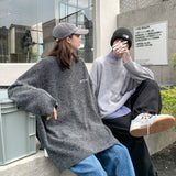 2020 Autumn And Winter New Youth Popular Hong Kong Style Simple Embroidery Sweater Fashion Casual Round Neck Pullover