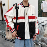 2019 Autumn And Winter New Hong Style Korean Version Of Color Matching Fashion Sports Casual Long-sleeved Shirt Jacket