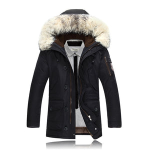 2019 New Winter Warm White Duck Downs Jacket Men Outwear Thick  Hooded Coat Male Casual Thermal Windproof Downs clothes Men