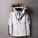 2019 Winter Thick Warm Down Jacket Casual Long White Duck Down Coats with Hooded Natural Raccoon -35 Degree Outwear