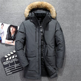 2019 New Down Parka Men Winter Jacket Men's High Quality Fur Collar Hooded Down Coat Warm Thick Long Coats -30.C Plus Size 2XL