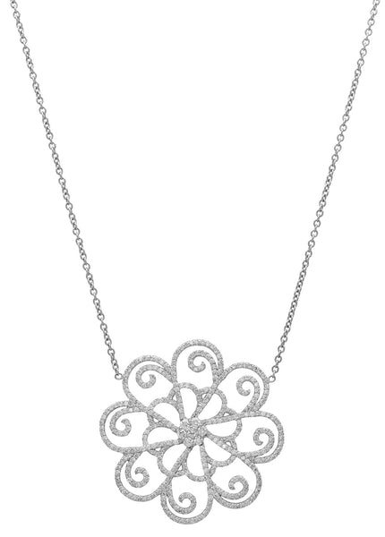ORNATE FLOWER NECKLACE