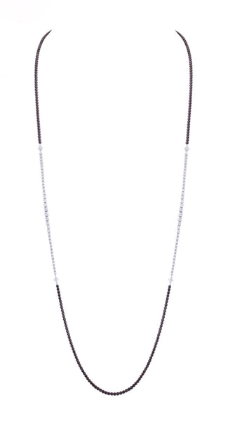 BLACK AND WHITE DIAMOND TENNIS NECKLACE