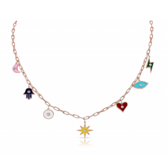 ENAMEL CHARM NECKLACE