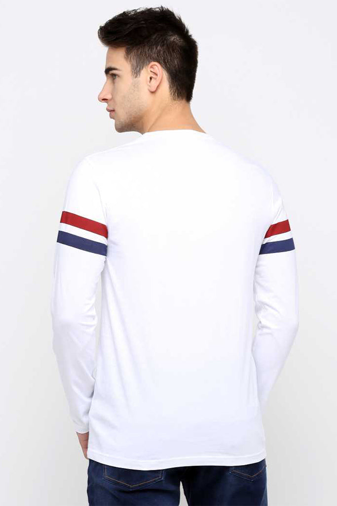 MANIAC Printed Men Round Neck Red, White T-Shirt ()
