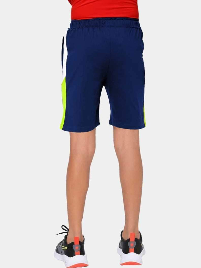 MANIAC Short For Boys Casual Solid Pure Cotton (Dark Blue, Pack of 1)
