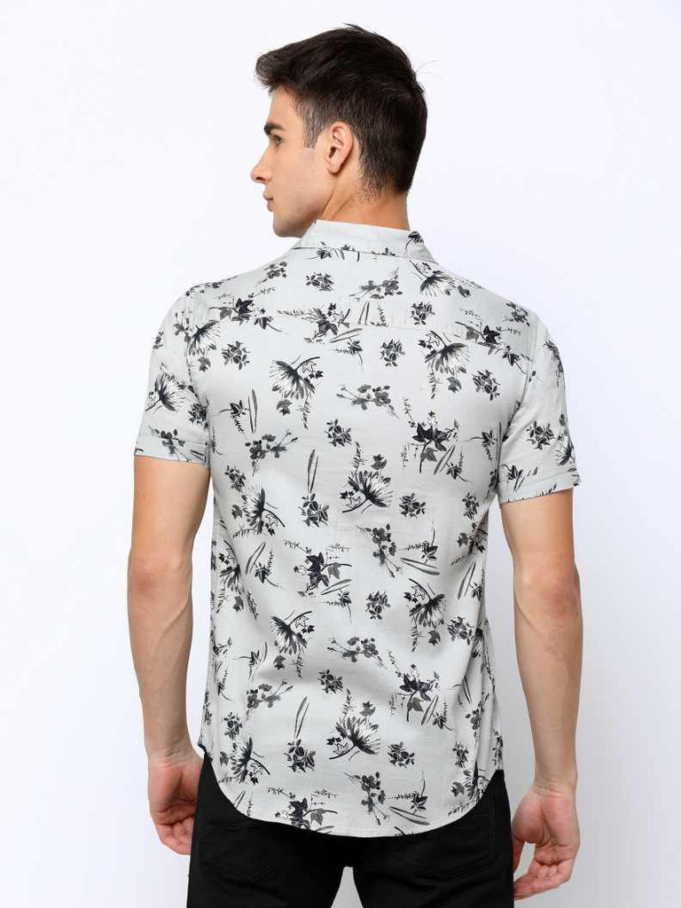 MANIAC Men Printed Casual Black, Grey Shirt - ManiacLife.com