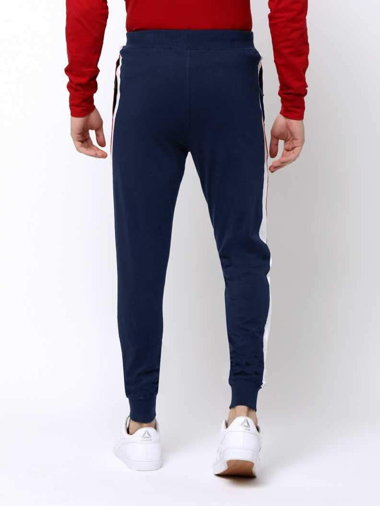 MANIAC Printed Men Dark Blue Track Pants
