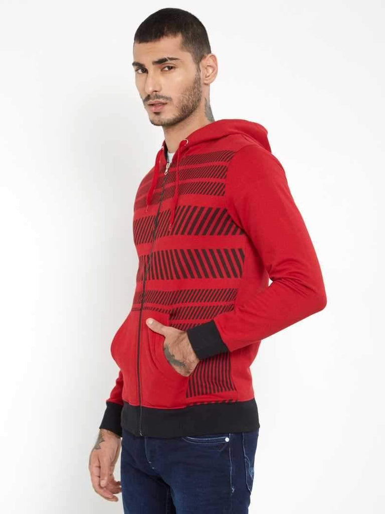 MANIAC Full Sleeve Striped Men Sweatshirt - ManiacLife.com