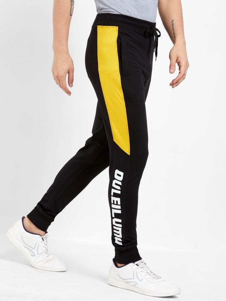MANIAC Color Block Men White, Black, Yellow Track Pants () - ManiacLife.com
