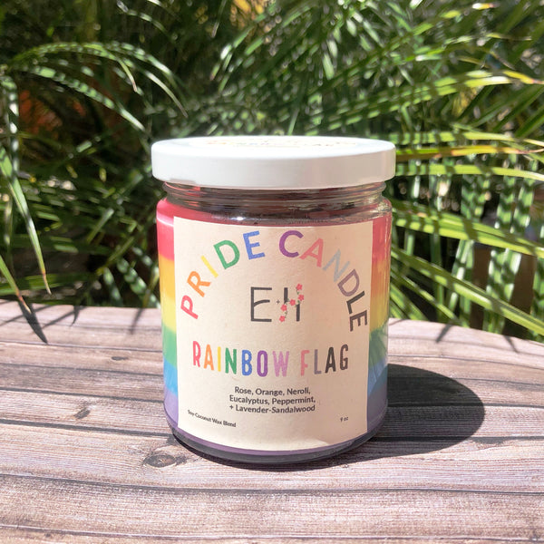 Rainbow Pride Candle
