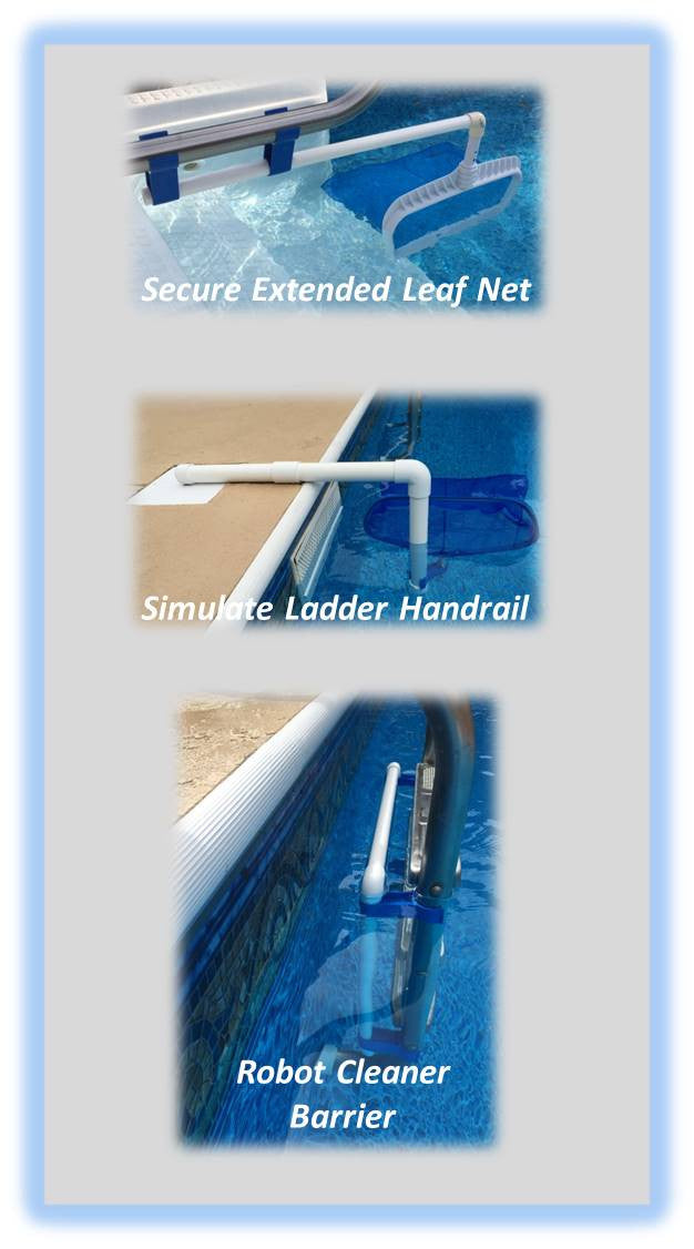 Diy do it yourself projects leaf bone some pool owners have issues with their robotic pool cleaner getting stuck behind the ladderwell you can construct a barrier using four 4 leaf bones solutioingenieria Images