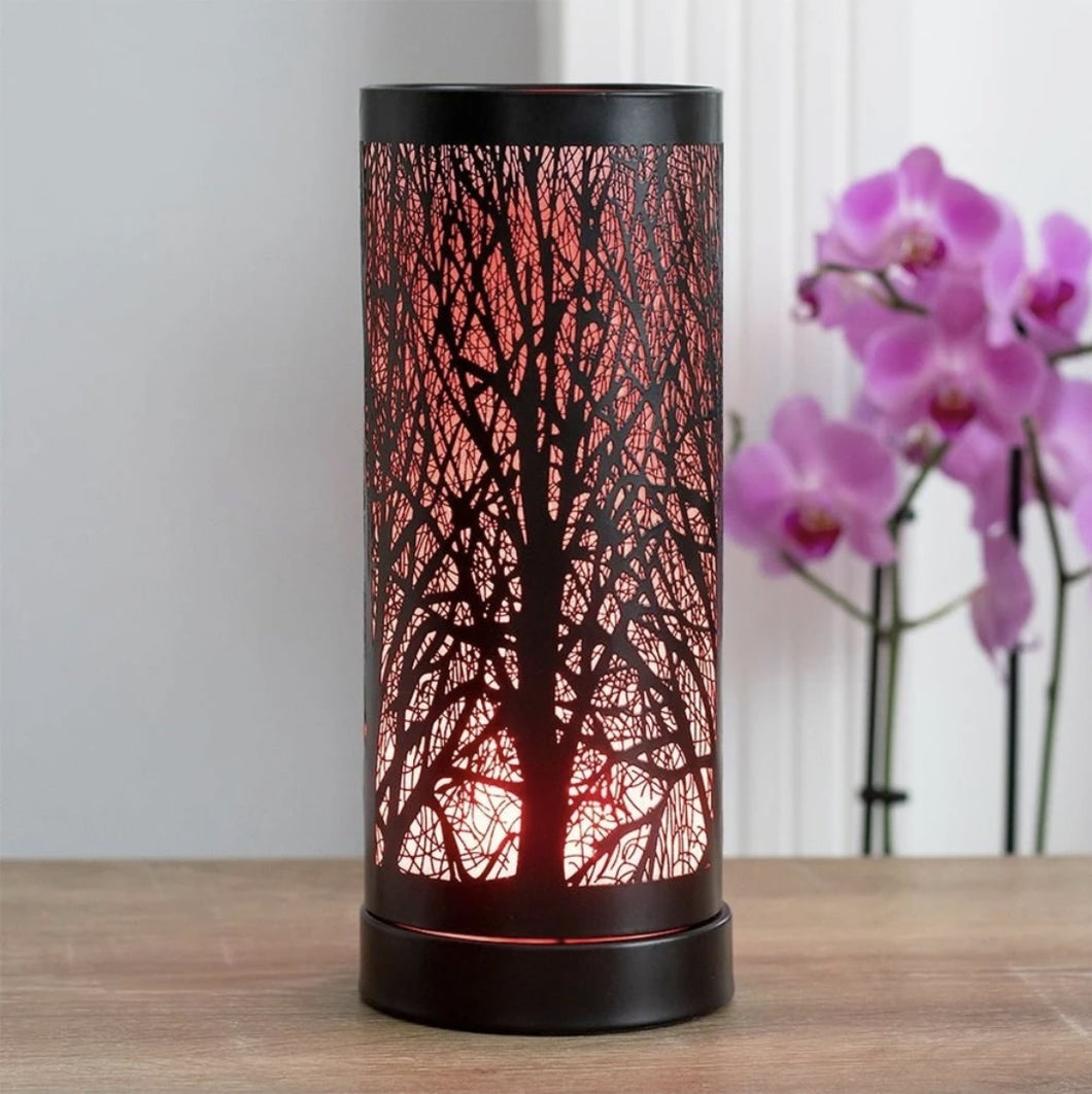 Colour Changing LED Aroma Wax Melt Burner Light Tree Silhouette Lamp, Diffuser Wax Warmer