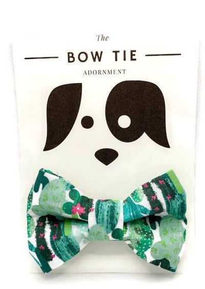 Cactus Dog Bow Tie Adornment