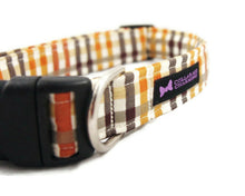 Load image into Gallery viewer, Plaid Dog Collar Aiden