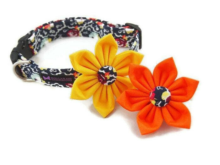 Dog Collar Flower Set Dandi