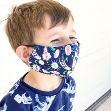 Load image into Gallery viewer, Defender Kids Mens Face Mask Superhero