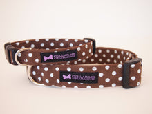 Load image into Gallery viewer, Brown Polka Dot Dog Collar Dottie