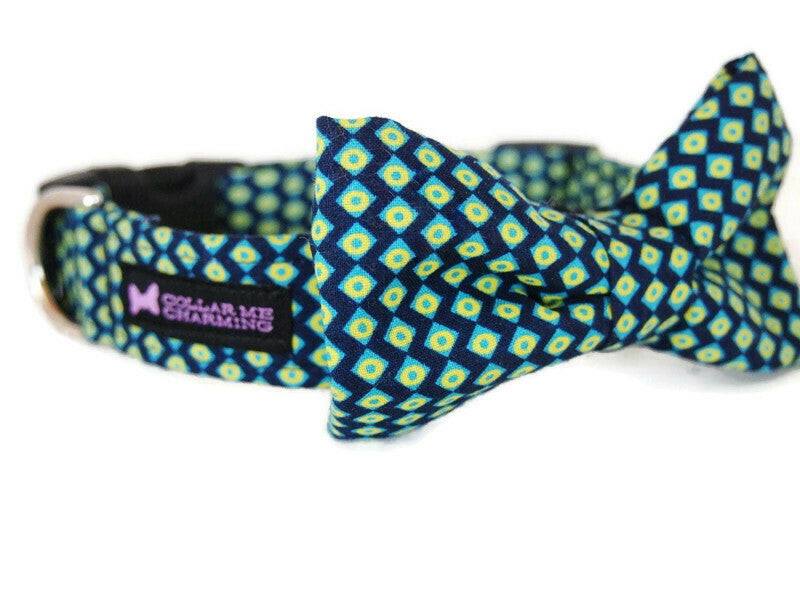 Dog Collar Bow Tie Set Polished