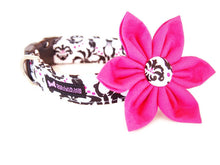 Load image into Gallery viewer, Pink Dog Collar Flower Set Monroe