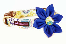 Load image into Gallery viewer, Blue Floral Dog Collar Flower Set Posy