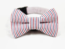 Load image into Gallery viewer, Dog Collar Bow Tie Set Americana