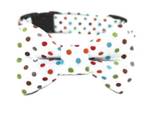 Load image into Gallery viewer, Polka Dot Dog Collar Bow Tie Set Carter