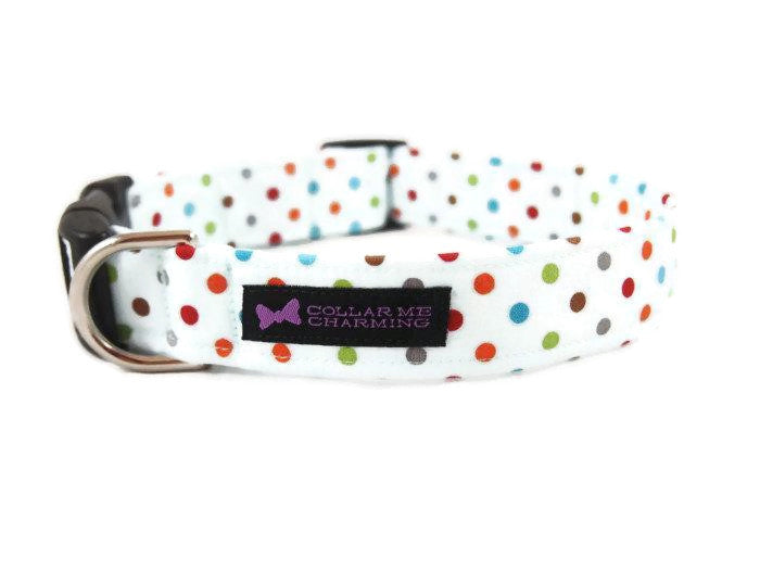 Polka Dot Dog Collar Carter
