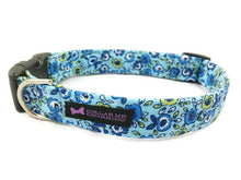 Load image into Gallery viewer, Blue Floral Dog Collar Preston