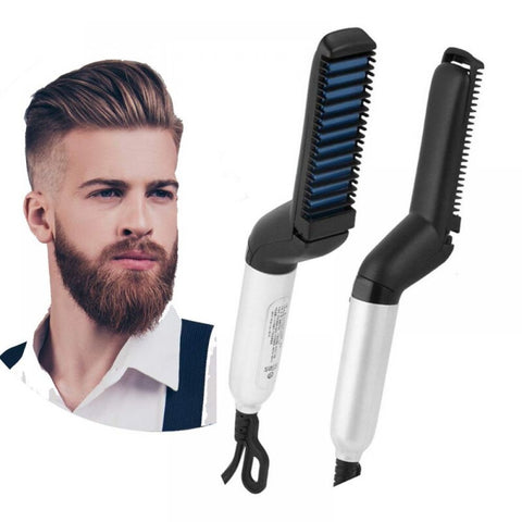 Multifunctional Hair Comb Brush Beard Straightener For Men