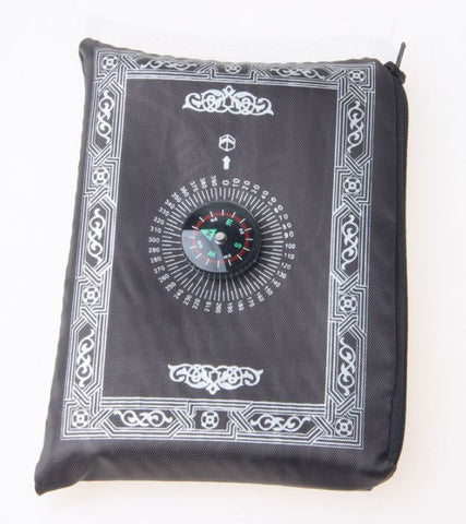 Portable Prayer Mat with Compass In Pouch