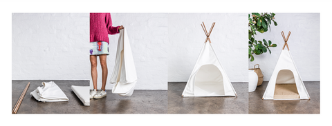 How to assemble your Burrow Teepee
