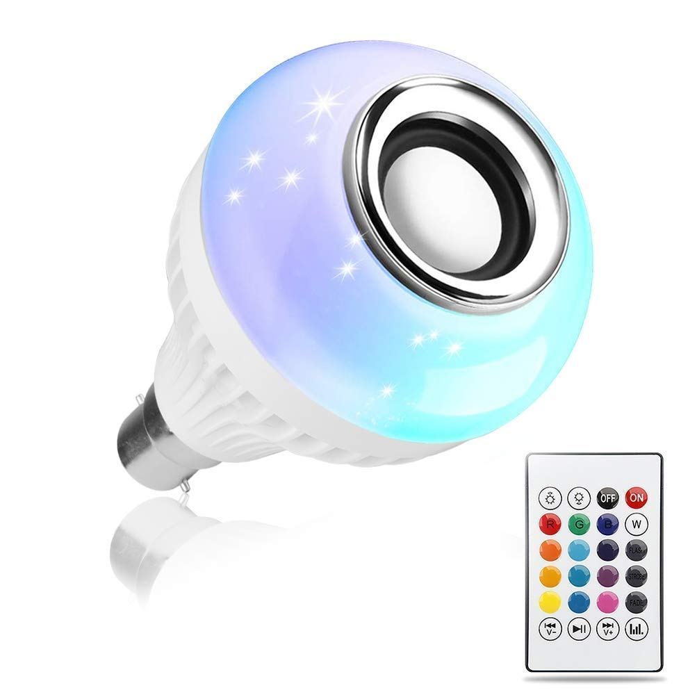 LED Music Speaker Light Bulb with Bluetooth for Home, Bedroom, Living Room, Party Decoration