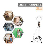 14 Inch LED Selfie Ring Light With 6 ft. Tripod Stand & Remote
