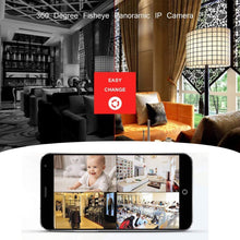 Load image into Gallery viewer, SYL White Fisheye Panoramic VR IP Camera Wi-Fi Wireless 360 Degree 3MP Network Camera