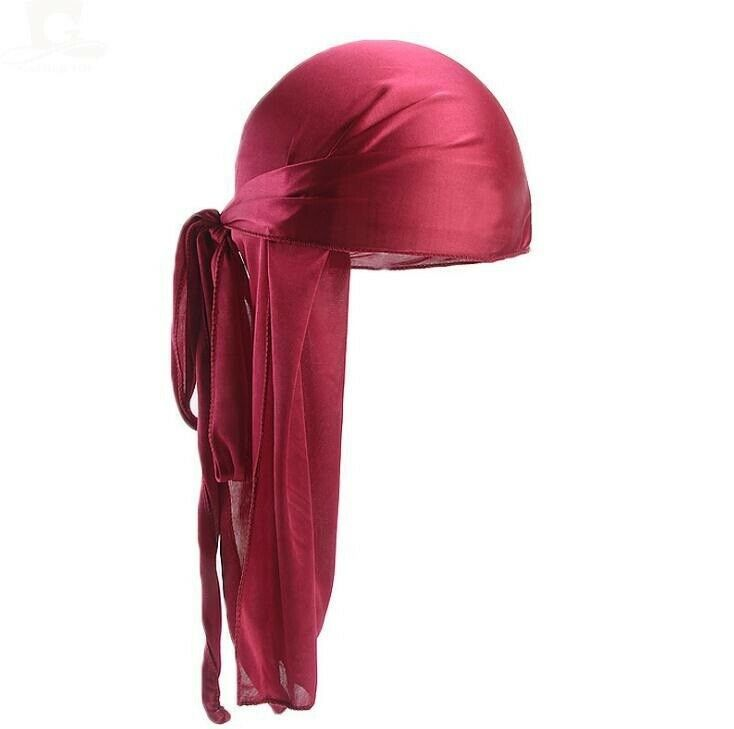 Premium Silky Satin Durag Men's Cap Hat Doo Rag Biker Smooth Head Wrap
