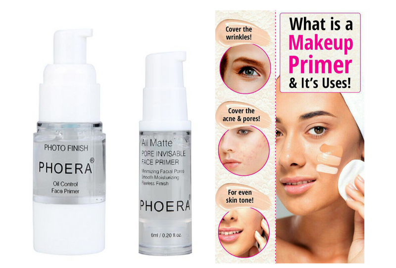 Phoera Face Primer Base Liquid Natural All Matte Foundation Pores Invisible Oil-control