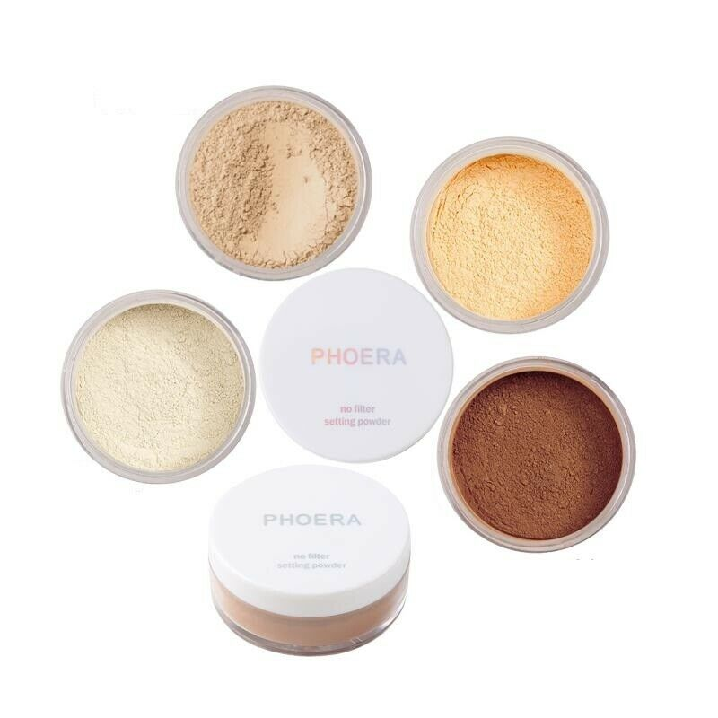 Phoera Translucent Loose Setting Face Powder Makeup Foundation Smooth Full Size