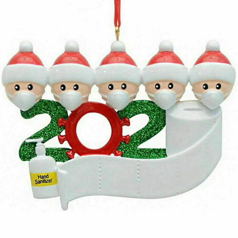 Personalized Christmas Hanging Ornament 2020 Mask Toilet Paper Xmas Family Gift