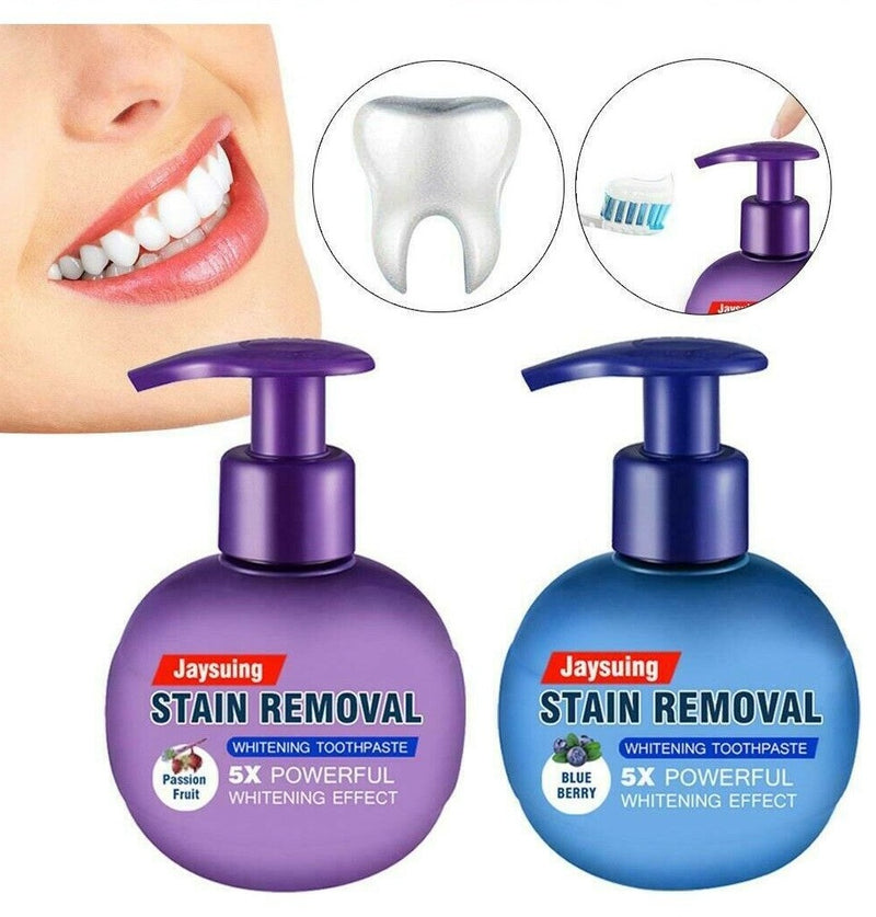 Jaysuing Intensive Stain Removal Whitening Toothpaste Press Type Fight Bleeding Gums