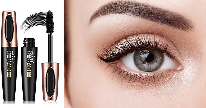 Secret Xpress Control 4D Silk Fiber Eyelash Mascara Extension Makeup Black Waterproof Eye Lashes
