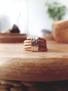 Leather Ring YVKE_20635 Beige/Light Naturel