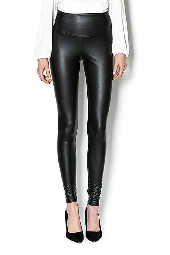 Leatherlook Legging LM1060 Zwart
