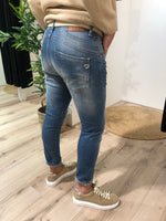 Afbeelding in Gallery-weergave laden, Jeans Destroyed P0FGBQ2P6M Blue