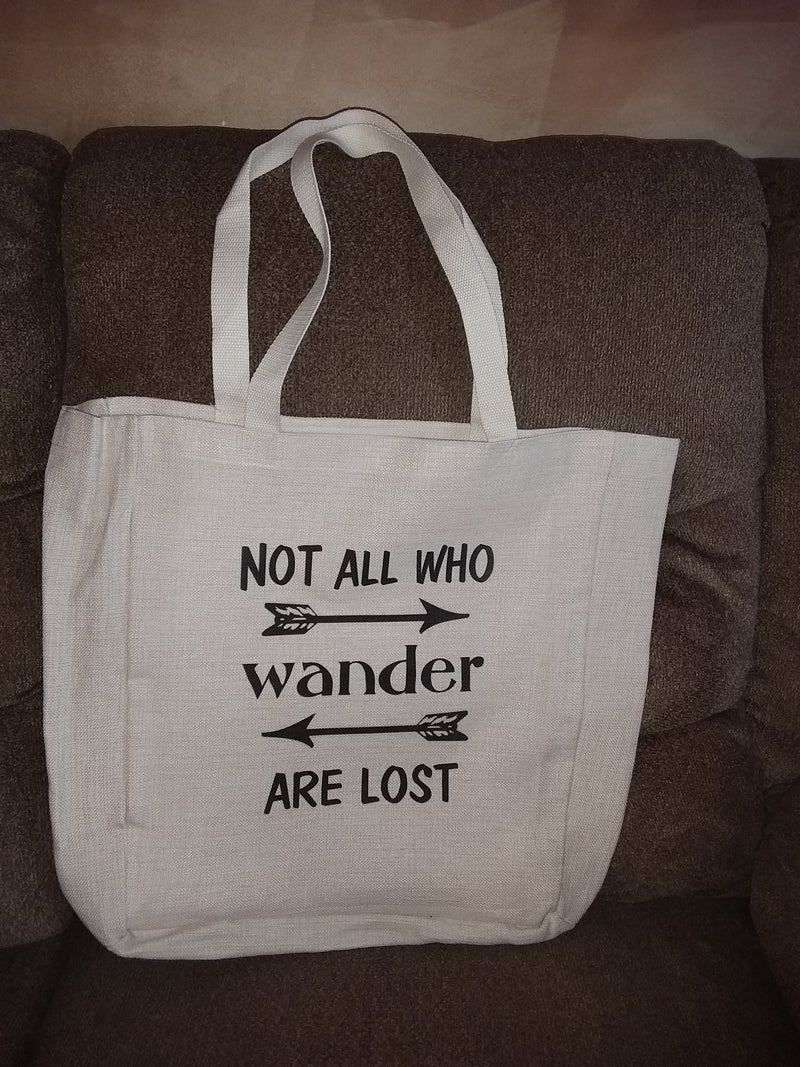 Tote bag - Not all who wander are lost