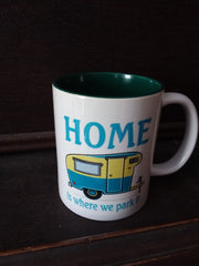 Home is where we park it mug