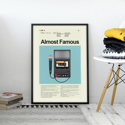 Almost Famous Inspired Mid-Century Modern Print 12x18 | Print only