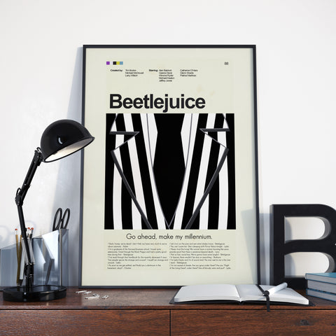 "Beetlejuice - Black and White Striped Suit | 12""x18"" Print only"