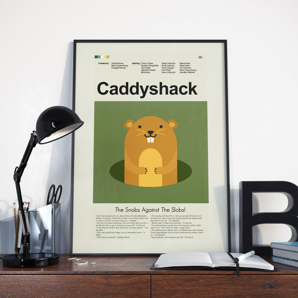 Caddyshack Inspired Mid-Century Modern Print 12x18 | Print only