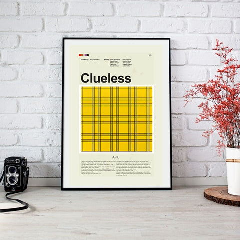 "Clueless - Cher's Yellow and Black Checkered Skirt | 12""x18"" Print only"